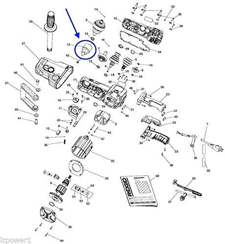 51WtSOMxxgL amazon com [hom] [670964003] ridgid r7130 right angle drill  at nearapp.co