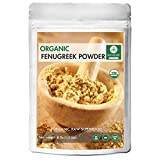 Naturevibe Botanicals USDA Organic Fenugreek Seed Powder - 1/2 lb ( 8 Ounces ) - Trigonella Foenum Graecum | Raw, Gluten-Free & Non-GMO | Removes Dandruff and Hair fall | Benefits to Skin | Increases Libido.