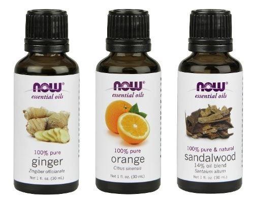 - 3-Pack Variety of NOW Essential Oils: Blissful Thinking- Ginger, Orange, Sandalwood