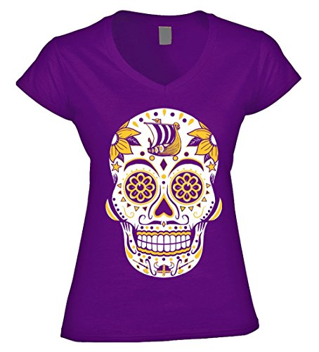 America s Finest Apparel Minnesota Sugar Skull - Women s (XL) 02902ae9b