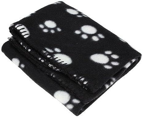 Lkinst Pet Dog Suave cálido Coral Manta de Pilas, Pilas Coral, Black 60* 70cm, 1