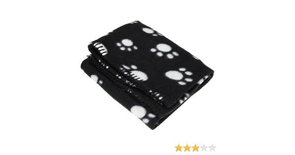 5Five Manta de invierno para mascotas, diseño con huellas (varios tamaños disponibles), color blanco y negro: Amazon.es: Bricolaje y herramientas