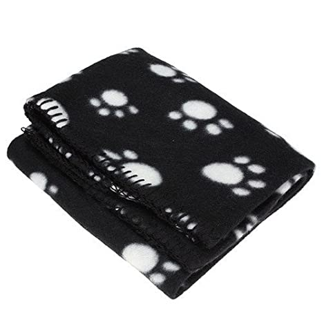 nabati Manta para Mascotas con Estampado de Huellas, Manta para Gatos y Gatos, Manta Cálida para Dormir, 1 Unidad: Amazon.es: Productos para mascotas