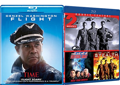 Action 3-Movie Collection - Flight, Stealth & Vertical Limit Blu-ray Bundle