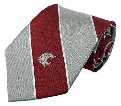 NCAA Washington State Cougars Traditional Striped Tie, Red, One Size Ncaa Washington State Cougars Basketball