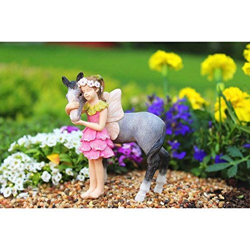Miniature Fairy Garden FAIRY PENNY & PONY Figurine (NIP) - My Mini Garden Dollhouse Accessories for Outdoor or House Decor (Figurine Pony Own)
