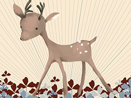 Price comparison product image Oopsy Daisy Fine Art for Kids Baby Buck Stretched Canvas Art by Meghann O'Hara 14 by 10-Inch