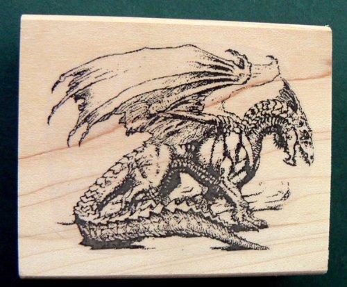 Dragon Rubber Stamp Wm 2x2.7