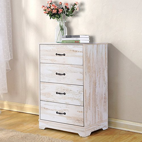 DEVAISE 4-Drawer Chest Wood Storage Cabinet