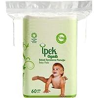 İpek Organik Bebek Temizleme Pamuğu Büyük Boy 60'lı 2 Paket, 120 Adet
