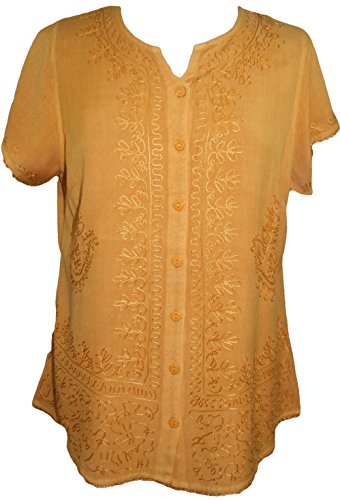Agan Traders 144 B Medieval Boho Embroidered Top Blouse (XL/1X, - Top Embroidered Gypsy