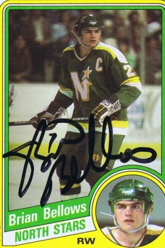 (Brian Bellows 1984 Topps Autograph #71 North Stars)