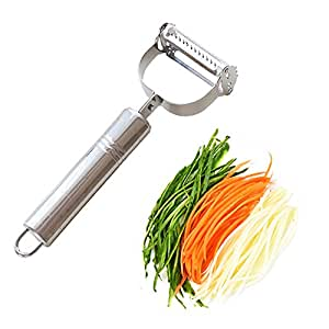 LeLehome Premium Ultra Sharp Stainless Steel Dual Julienne & Vegetable Peeler Slicer - Amazing Tool for Making Delicious Salads and Veggie Noodles
