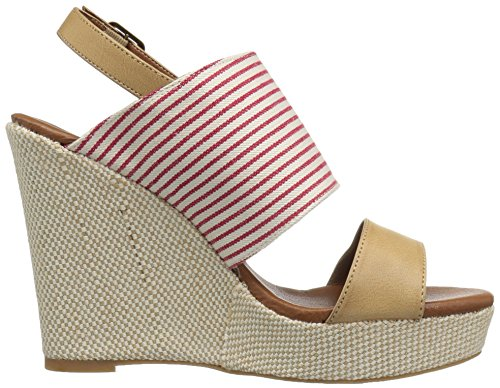 Dolce Di Mojo Moxy Womens Sailor Wedge Sandal Red