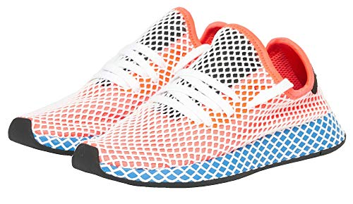 - adidas Deerupt Runner Womens in Solar Red/Bluebird, 6.5