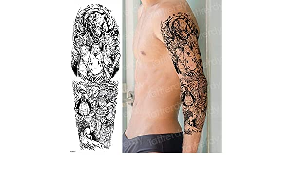 4 Unids, Tatuaje Temporal Manga Del Brazo Completo Manga Del Brazo ...