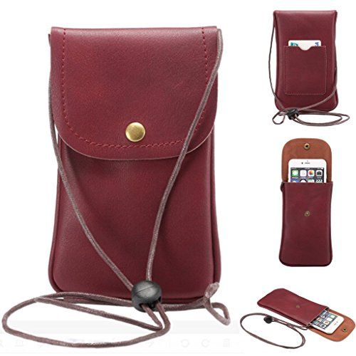 Universal Cell Phone Cross-body Purse,Woven Design Shoulder Bag Soft PU Leather Carrying Cases for Apple iPhone 6s/6 Plus iPhone 6/6s,Samsung Galaxy S6 and Note Series and Phones Under 5.5