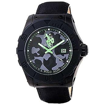 Armbanduhr Herren U.S. Polo Assn. Voyager usp4238gr schwarz Leder