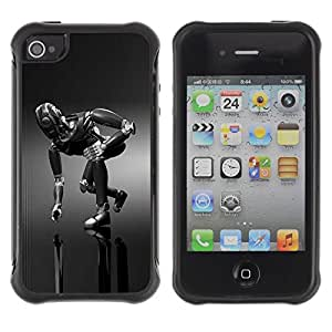 "Hypernova Defender Series TPU protection Cas Case Coque pour Apple iPhone 4 / iPhone 4S [Mech Robot""]"