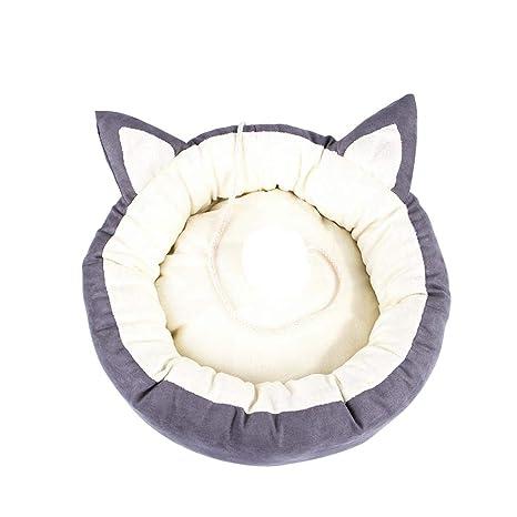Camas para mascotas Calentador para perros Gatos En forma de gato Lindo nido de mascota Gato
