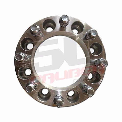 """One Pair (2) of Wheel Spacers – 8x6.5"""" (8x165.1mm) Bolt Pattern, 1.5 Inch Thick 9/16"""" Studs Dodge Ram Ford F-250 F-350 Chevy GMC C20, K20 [5284-A22] by 50 Caliber Racing (Image #1)"""