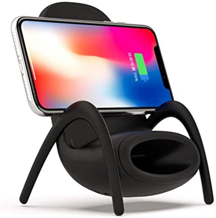 YTCWR Soporte de Cargador de Smartphone inalámbrico Mini Seat para ...
