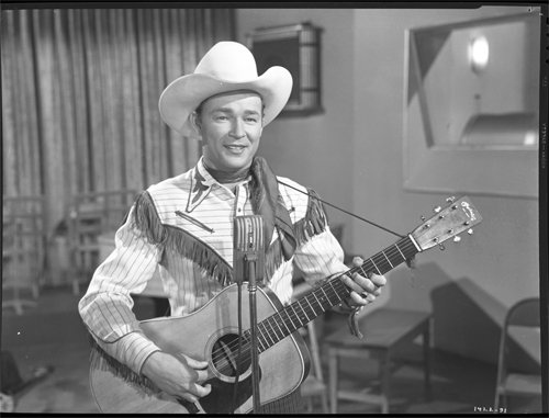 Roy Rogers Classic Photo Western Outfit & Guitar Original Vintage 8X10 Negative