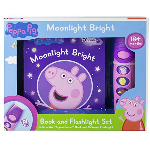 Peppa Pig - Moonlight Bright Sound Book and Flashlight Set - PI Kids (Peppa Pig Gifts For 2 Year Old)
