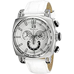 Ritmo Mundo Men's 2221/4 SS White Racer Analog Display Swiss Quartz White Watch