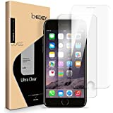 """[ 2 Pack ] Screen Protector Compatible for iPhone 8 Plus 7 Plus 6s Plus 6 Plus, ICHECKEY 2.5D Premium HD Clear Tempered Glass Screen Protector Cover for Apple iPhone 8/7/6s/6 Plus 5.5"""""""