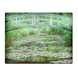 Monet The Japanese Footbridge - Glass Cutting Board