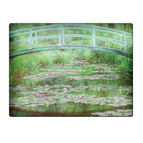 Monet The Japanese Footbridge - Glass Cutting Board by EOS Cutting Boards