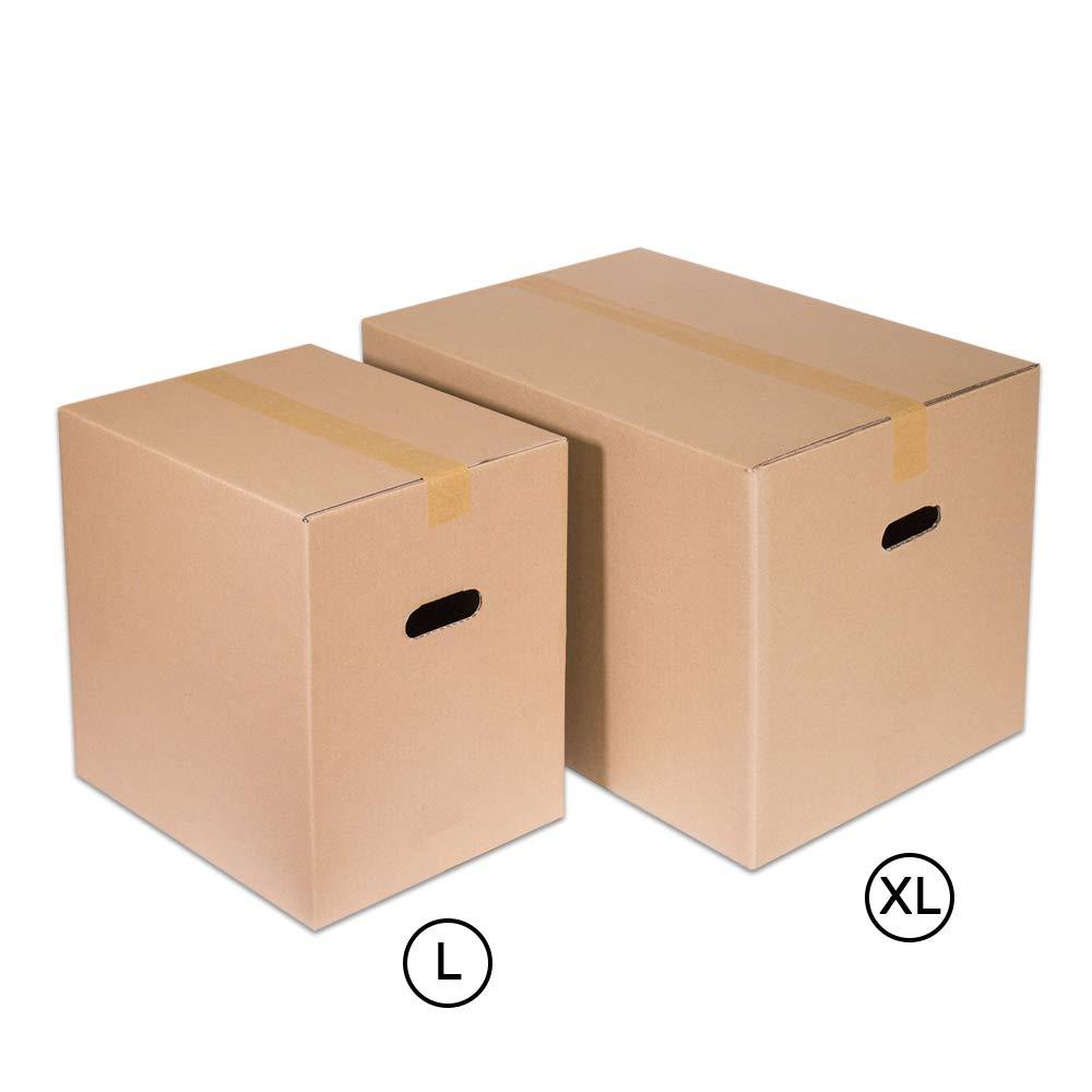 40X30X40-confezione da 10 pezzi Kartox Scatola con maniglia per mobe Extrareforzada