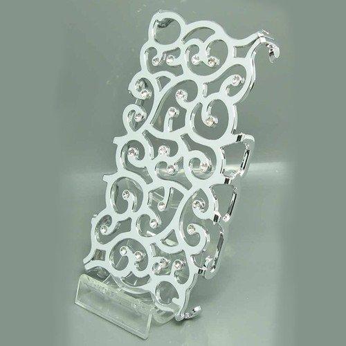 D9Q Blume Crystal Bling Handy Shell Case/Tasche Hülle Schutzhülle zurück Skin für Apple iPhone 4 4 s