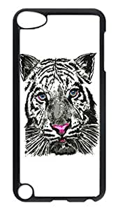 Brian114 Case, iPod Touch 5 Case, iPod Touch 5th Case Cover, Cartoon Tiger Retro Protective Hard PC Back Case for iPod Touch 5 ( Black )