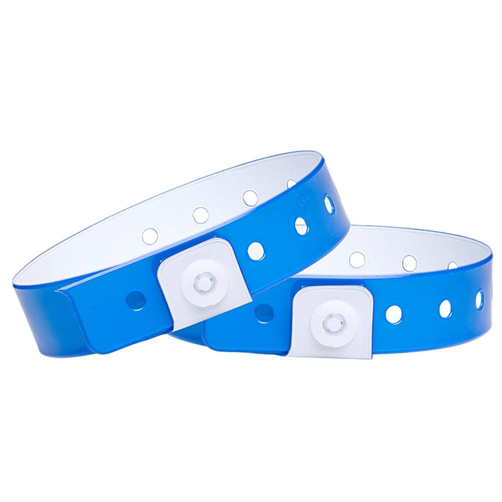 Ouchan Plastic Wristbands Neon Blue - 500 Pack Wristbands for Events Club Music Meeting Party by OUCHAN