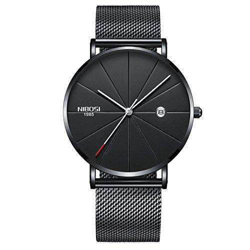 NIBOSI Analog Men's Watch (Black Dial, Black Colored Strap)