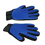 Pet Grooming Gloves - Set of 2 - petnow Premium Gentle Deshedding Brush Glove - Left & Right - Removing Pet Shedding Hair, Great for Massages and Bathing - Cats, Dogs and Horses - Designed in Canada