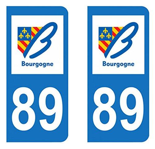 Yonne Paire Sticker immatriculation 89