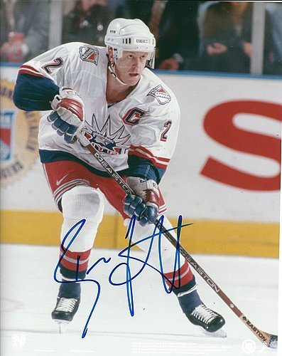 Brian Leetch Signed 8x10 Photo - Brian Leetch Autographed Signed 8x10 Photo New York Rangers 8x10 Photo - Certified Authentic