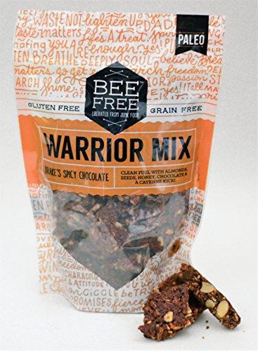 BeeFree Warrior Mix Granola | Gluten Free, Grain Free, & Paleo, Drake's Spicy Chocolate, 9 Ounce Bag