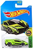 Hot Wheels 2017 HW Exotics Lamborghini Veneno 165/365, Neon Green