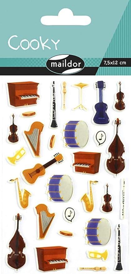 Maildor - Pegatinas para instrumentos musicales, 1 hoja: Amazon.es ...