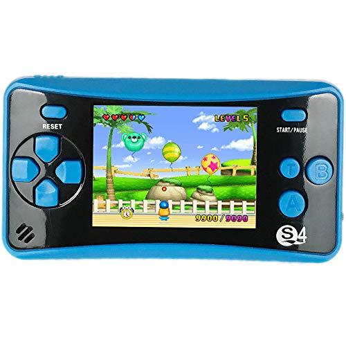 "QINGSHE QS-4 Handheld Game Consola para niños, portable Arcade Entertainment Gaming System Retro FC Video Game Player 2.5"" LCD Built-in 182 Classic Games,Birthday Present for Children(Blue) a buen precio"