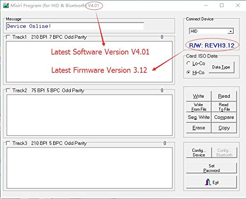MISIRI X6BT Bluetooth Mag VIP Card Reader Writer Encoder