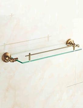 Étagère en verre de salle de bain Rétro Européen Single - Layer ...