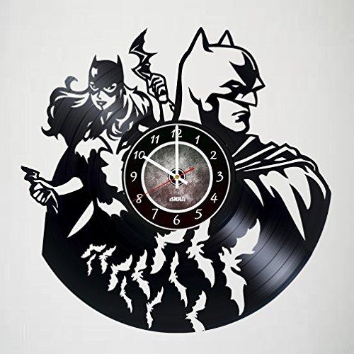 Robin Corset Sexy Costumes (Batman Superhero and Batgirl Vinyl Record Wall Clock - Get unique Bedroom wall decor - Gift ideas for boys and girls, men and women - Unique Comics Modern Wall Art)