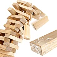 ROPODA Wood Block Stack - Giant Tumbling Timbers Game |2.5 feet Tall, Grows to Over 5.5 feet |Made of Premium