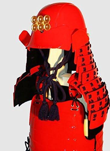等身大着用 甲冑/鎧 プラスチック製完成品 日根野兜桶二枚胴セット(赤) 成人用 コスプレにも最適