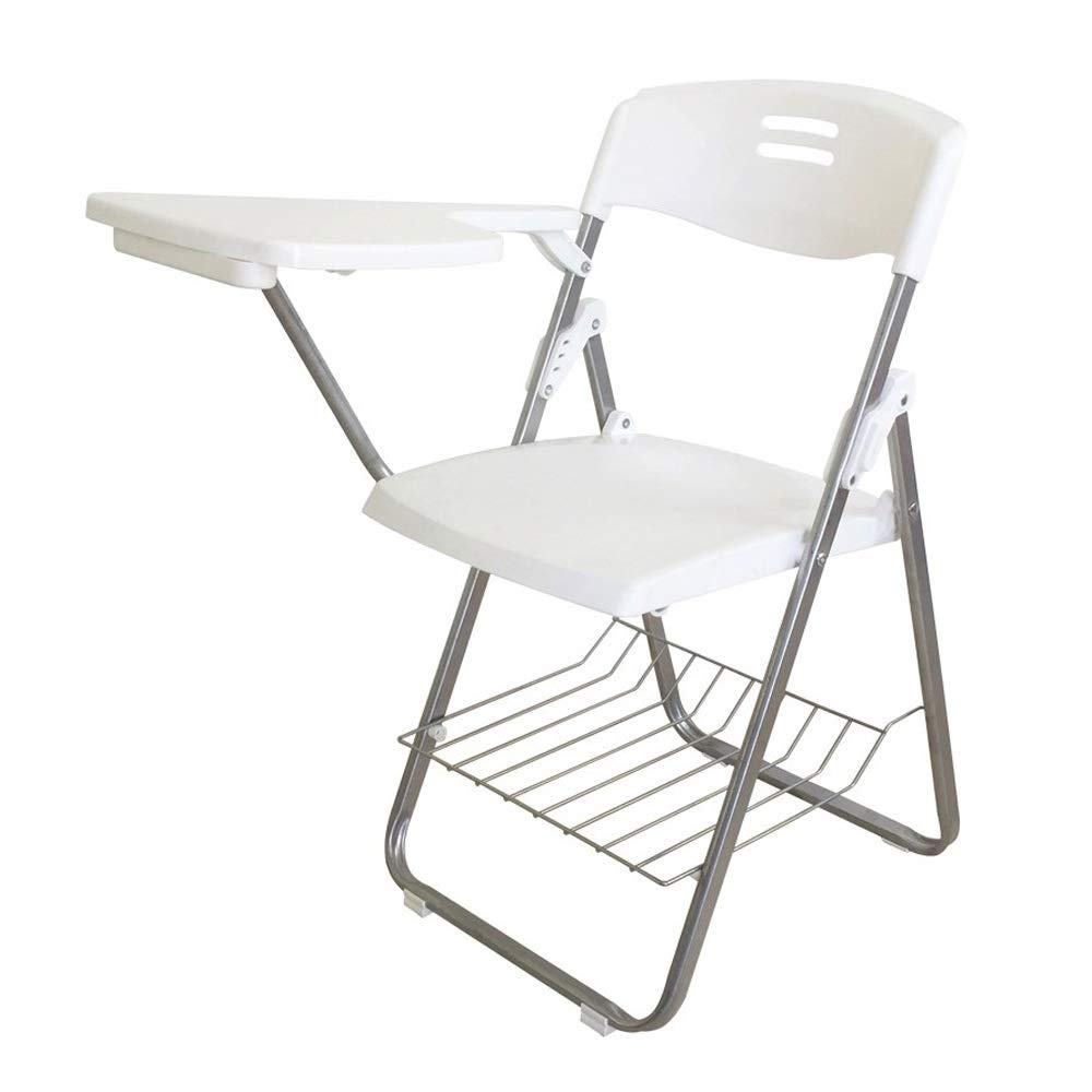 White-3 Folding Office Chair, Accent Chair Lounge Conference